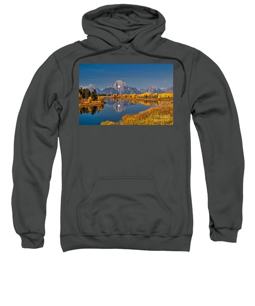 Fall Colors At Oxbow Bend In Grand Teton National Park Sweatshirt