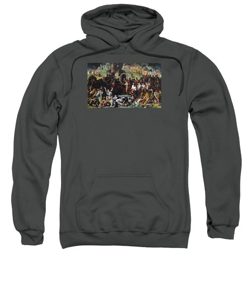 Sweatshirt featuring the painting  The Marriage Of Strongbow And Aoife by Daniel Maclise