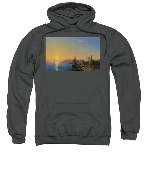 Sweatshirt featuring the painting  View Of Constantinople And The Bosphorus by Celestial Images