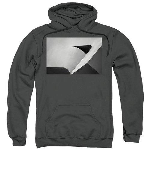 Abstract In Black And White Sweatshirt