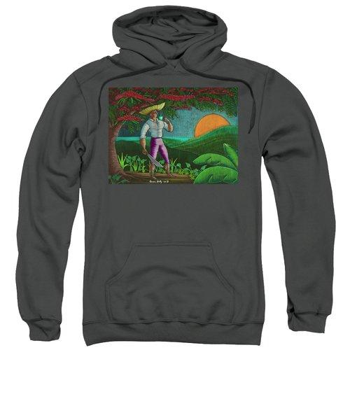 Sweatshirt featuring the painting Amanecer En Borinquen by Oscar Ortiz