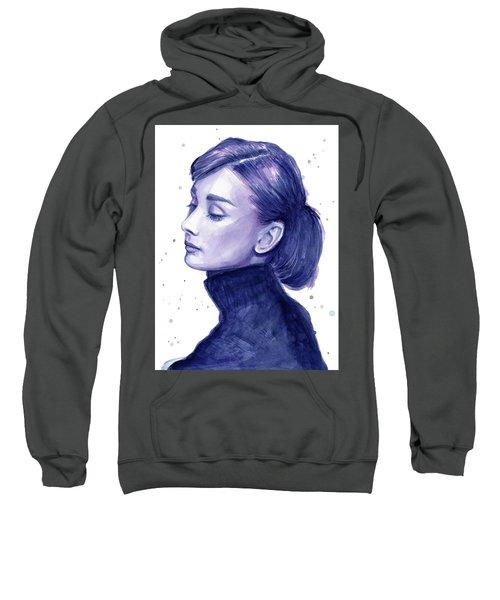Audrey Hepburn Portrait Sweatshirt by Olga Shvartsur