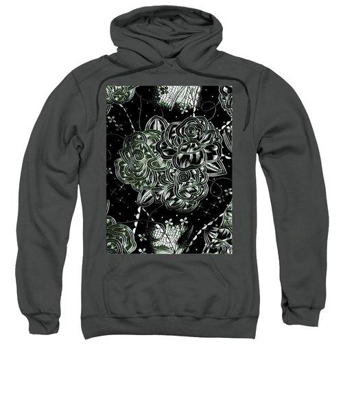 Black Flower Sweatshirt