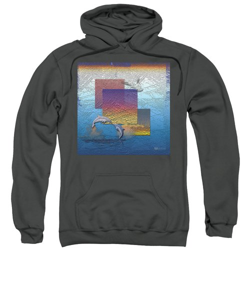 Blue Lagoon Sunrise  Sweatshirt by Serge Averbukh