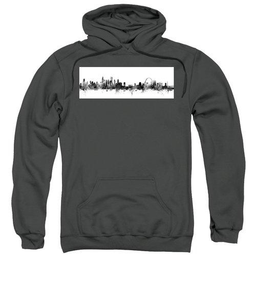 Chicago And St Louis Skyline Mashup Sweatshirt by Michael Tompsett