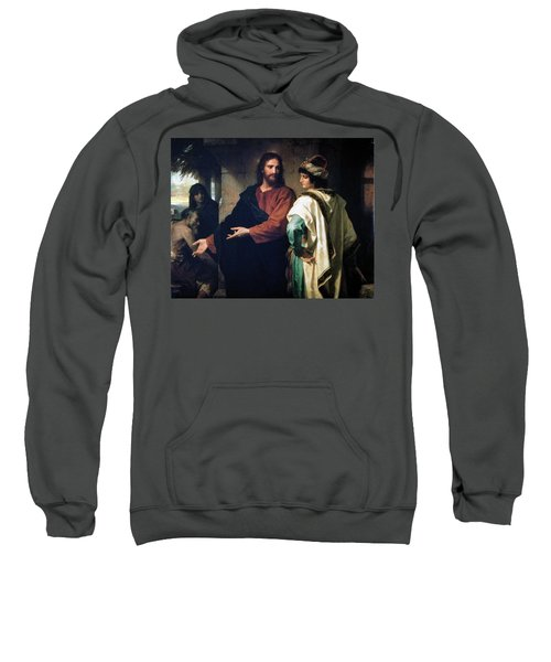 Christ And The Rich Young Ruler Sweatshirt