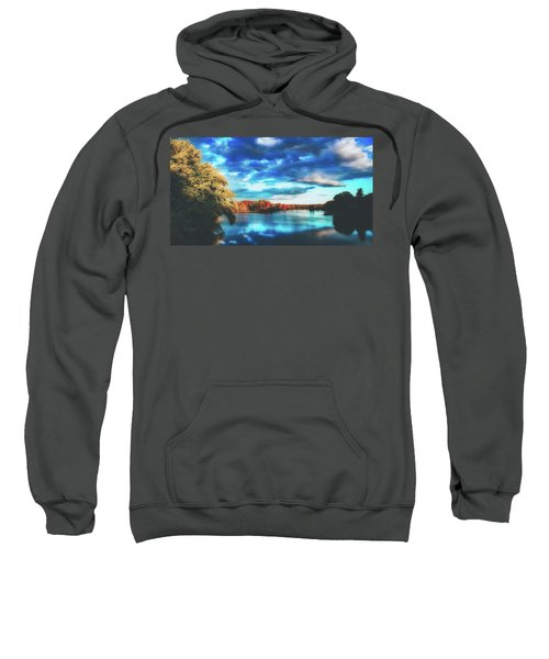 Cloudy Skies Over The Stillwater River Sweatshirt