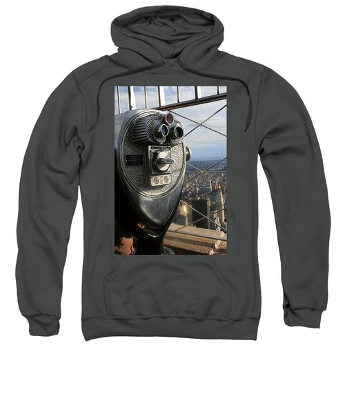 Sweatshirt featuring the photograph Coin Operated Viewer by Debbie Cundy