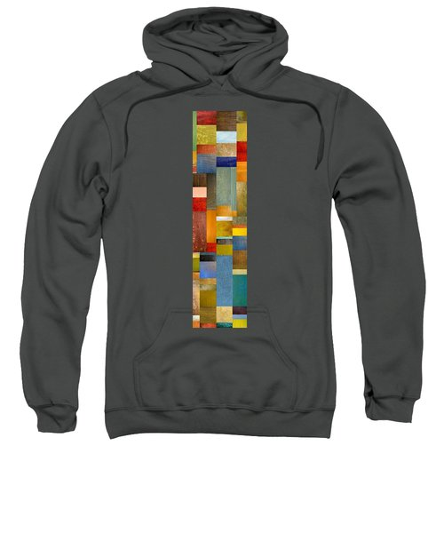Color Panels With Blue Sky Sweatshirt