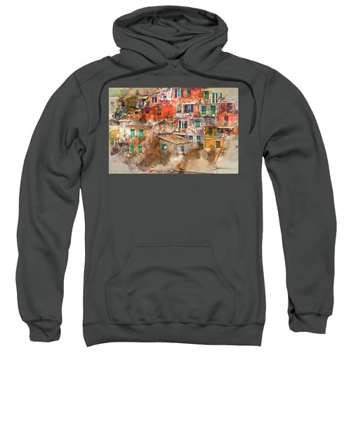 Colorful Homes In Cinque Terre Italy Sweatshirt