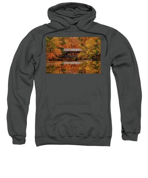 Covered Bridge At Sturbridge Village Sweatshirt