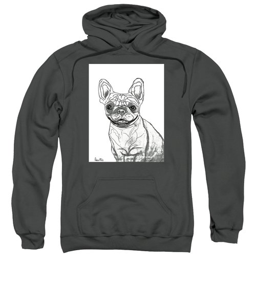 Dog Sketch In Charcoal 7 Sweatshirt