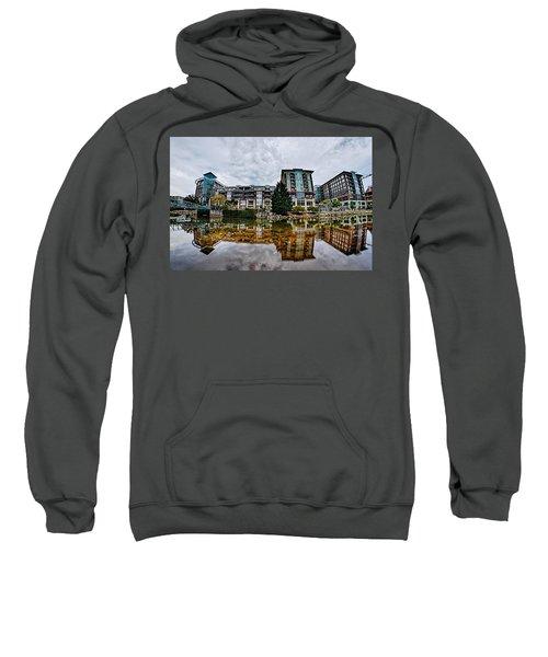 Downtown Of Greenville South Carolina Around Falls Park Sweatshirt