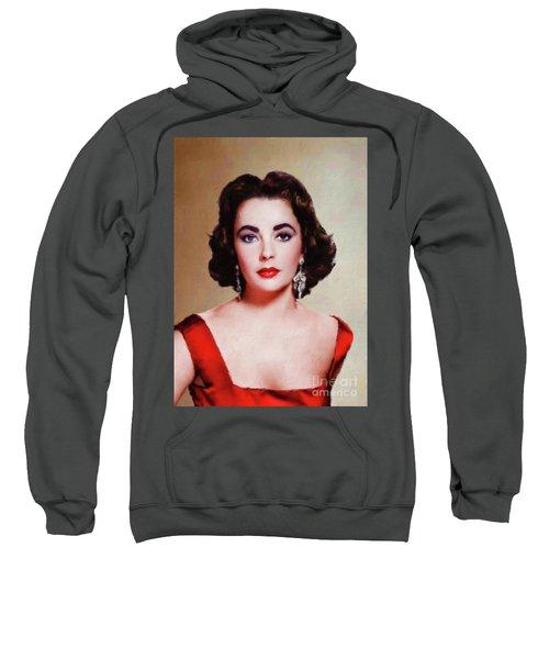 Elizabeth Taylor Hollywood Actress Sweatshirt by Mary Bassett