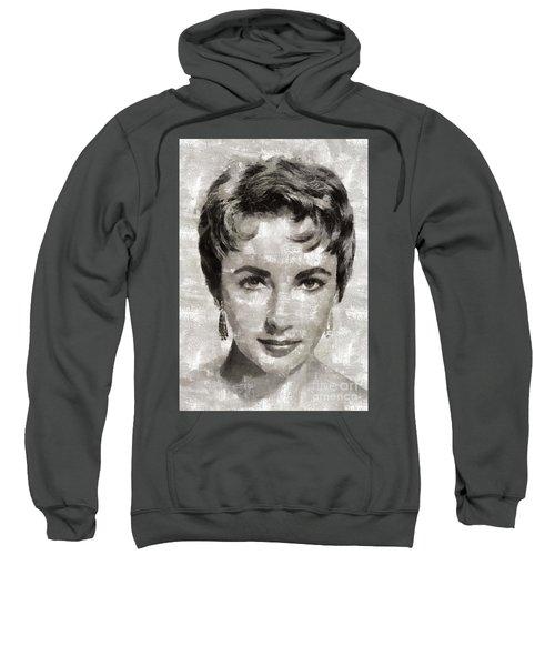 Elizabeth Taylor, Vintage Hollywood Legend Sweatshirt by Mary Bassett