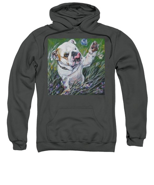English Bulldog Sweatshirt by Lee Ann Shepard
