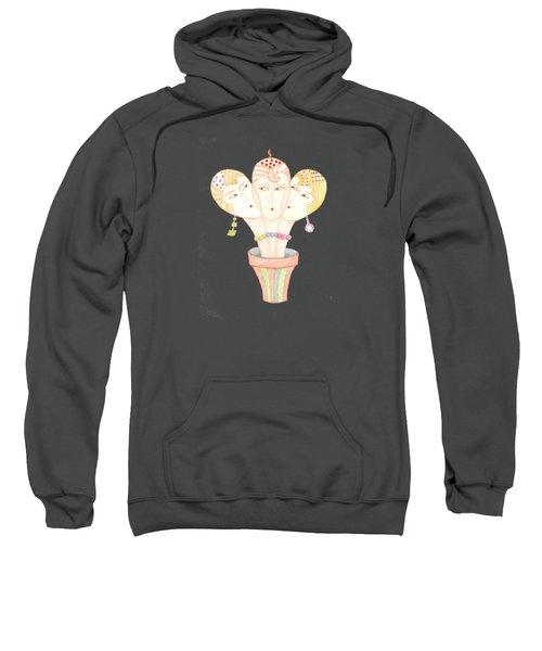 Flower Pot Ladies Sweatshirt