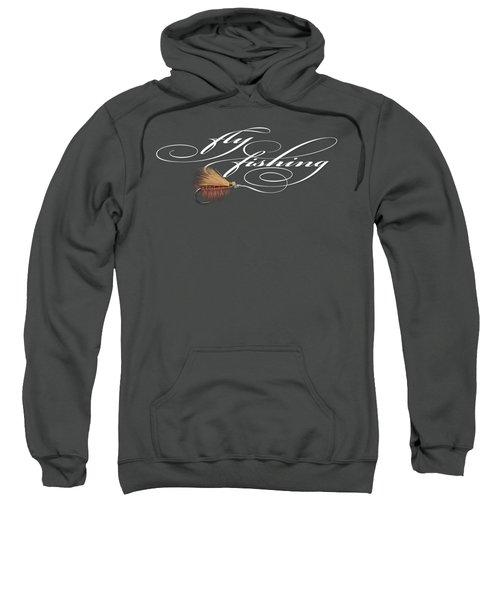 Fly Fishing Elk Hair Caddis Sweatshirt