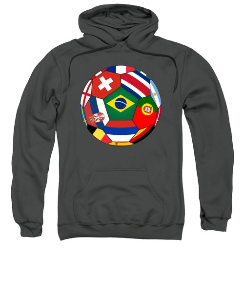 Football Ball With Various Flags Sweatshirt