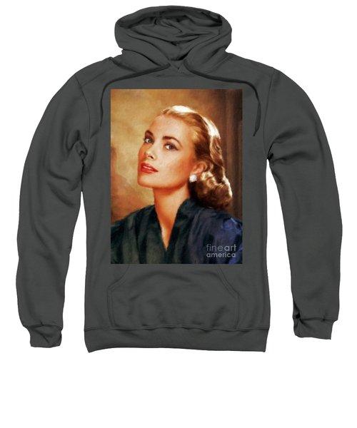 Grace Kelly, Actress And Princess Sweatshirt by Mary Bassett