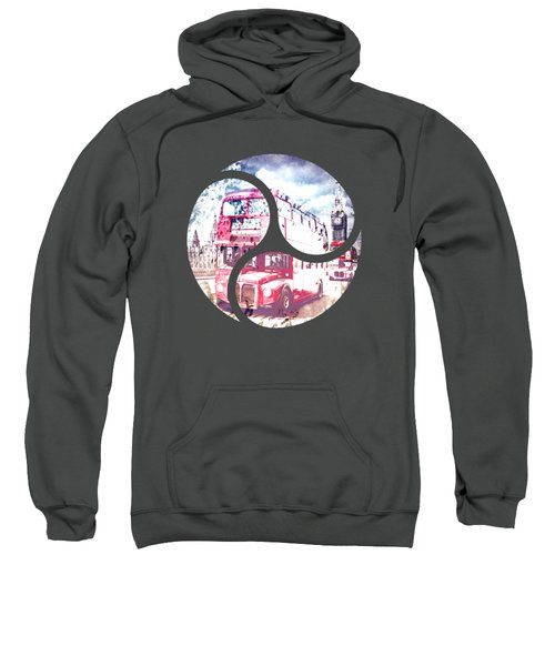 Graphic Art London Westminster Bridge Streetscene Sweatshirt by Melanie Viola