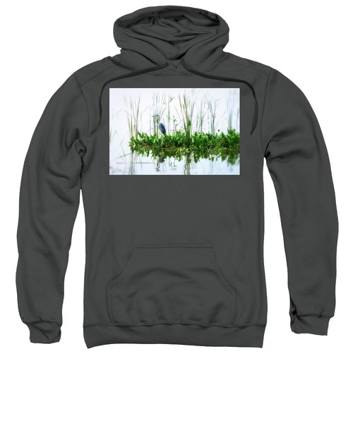 Great Blue On Green Island Sweatshirt