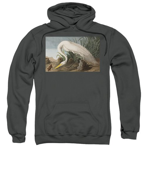 Great Egret Sweatshirt by John James Audubon