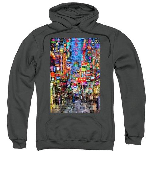 Hong Kong City Nightlife Sweatshirt