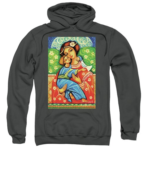 Sweatshirt featuring the painting Madonna And Child by Eva Campbell