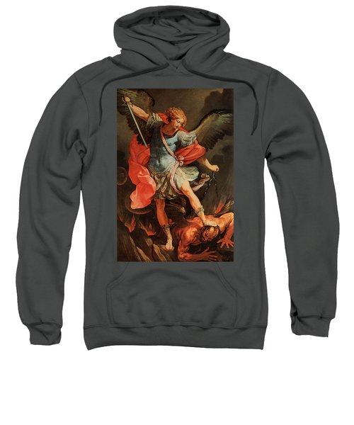 Michael Defeats Satan Sweatshirt