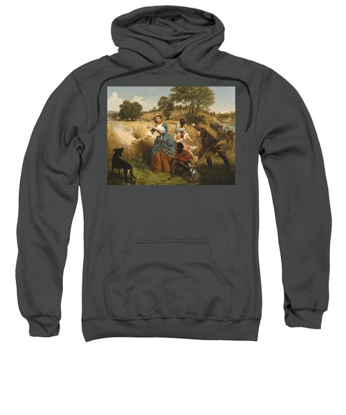 Mrs Schuyler Burning Her Wheat Fields On The Approach Of The British Sweatshirt