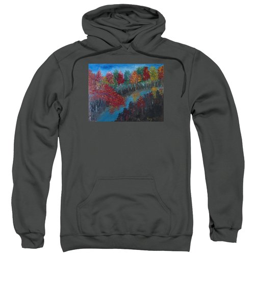New Hampshire In Autumn Sweatshirt by Roxy Rich