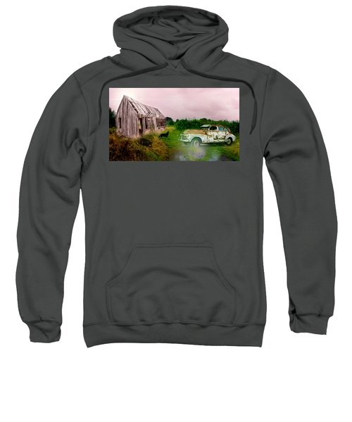 Sweatshirt featuring the photograph Ol' Rusty by Alison Frank