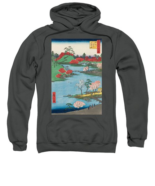Open Garden At Fukagawa Hachiman Shrine Sweatshirt