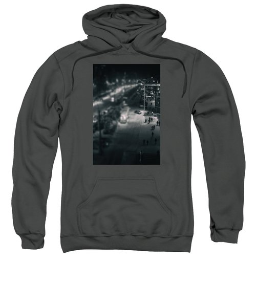 People At Night From Arerial View Sweatshirt