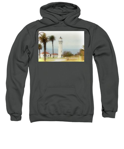 Point Vincente Lighthouse, California In Retro Style Sweatshirt