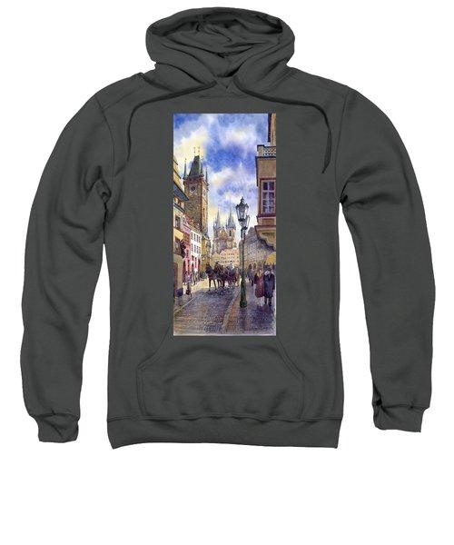 Prague Old Town Square 01 Sweatshirt