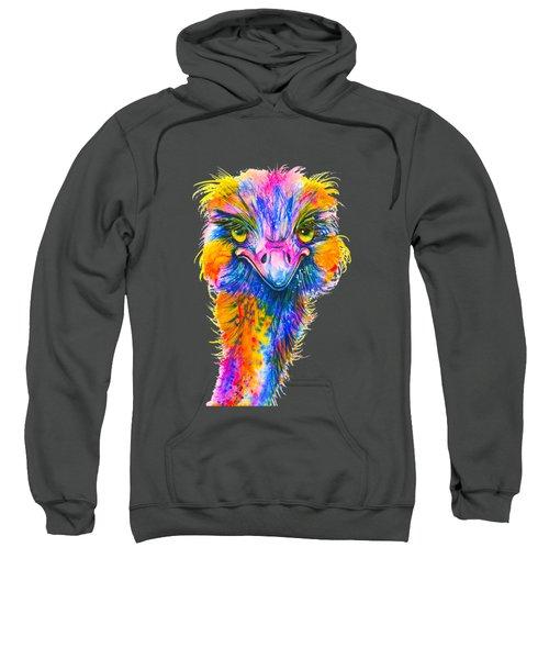 Rainbow Ostrich  Sweatshirt