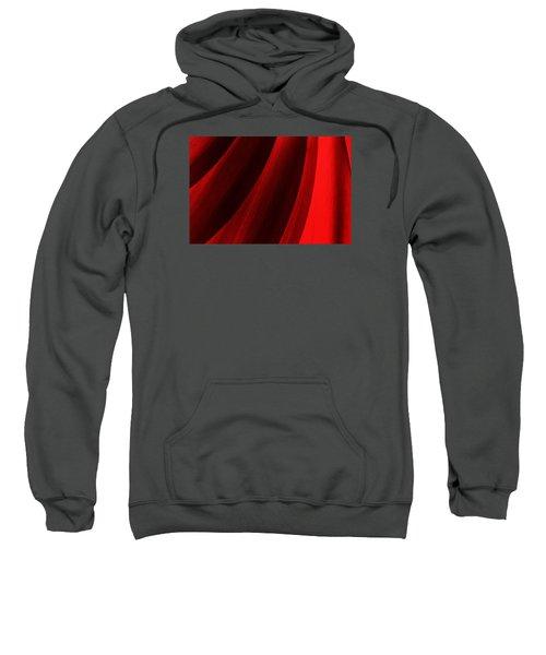 Red Chrysanthemum Dawn Rising Sweatshirt