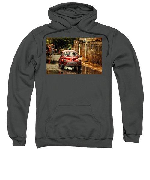 Red Retromobile. Morris Minor Sweatshirt