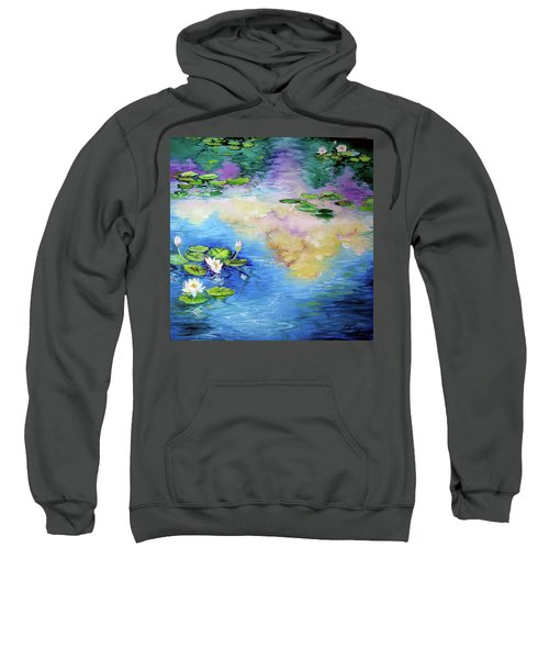 Reflections On A Waterlily Pond Sweatshirt