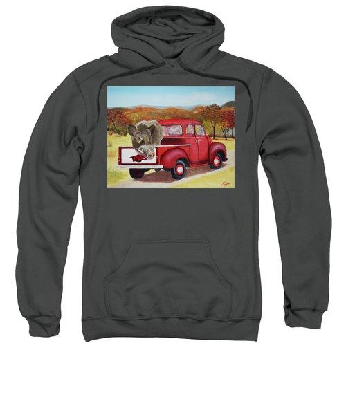 Ridin' With Razorbacks 2 Sweatshirt by Belinda Nagy