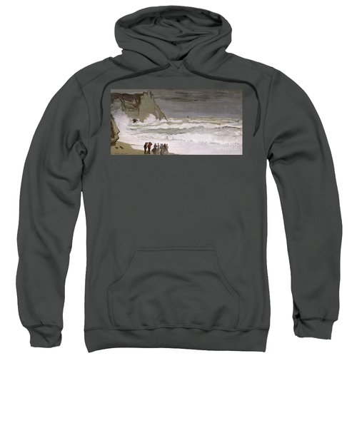 Rough Sea At Etretat Sweatshirt