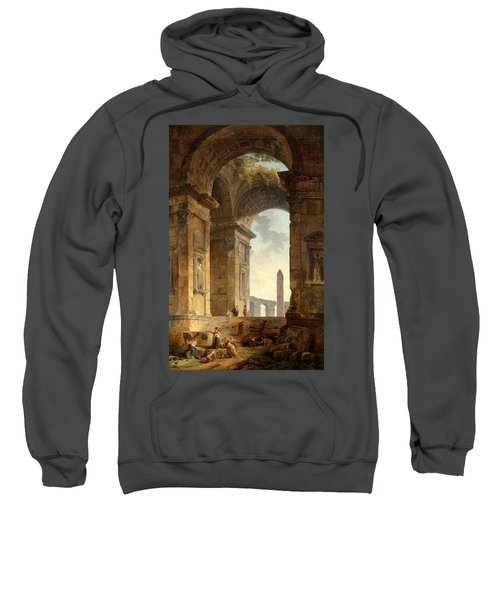 Ruins With An Obelisk In The Distance Sweatshirt
