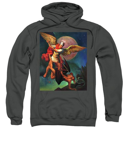 Saint Michael The Warrior Archangel Sweatshirt