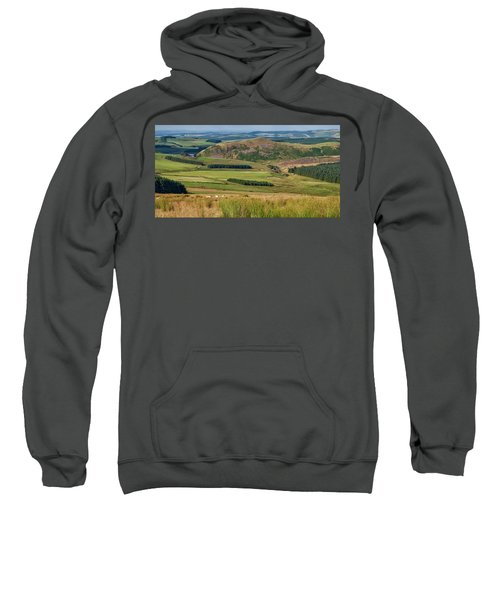 Scotland View From The English Borders Sweatshirt by Jeremy Lavender Photography