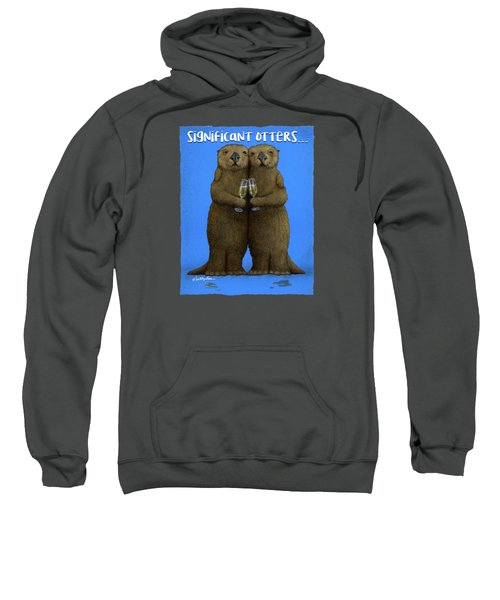 Significant Otters... Sweatshirt by Will Bullas