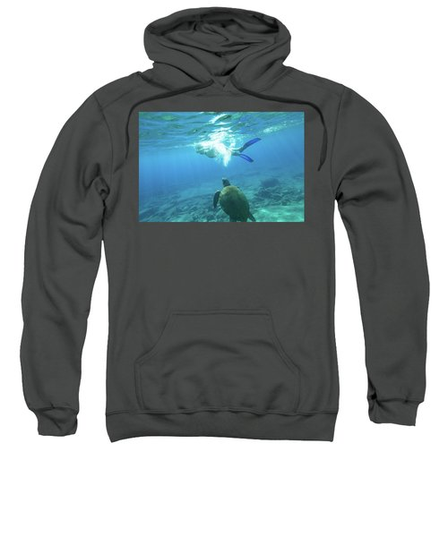 Snorkeler Female Sea Turtle Sweatshirt