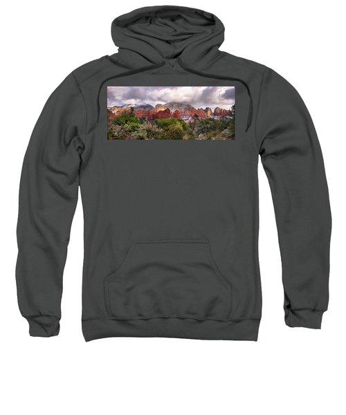 Snow In Heaven Panorama Sweatshirt