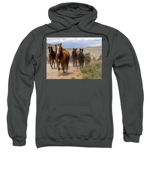 Sombrero Ranch Horse Drive, An Annual Event In Maybell, Colorado Sweatshirt